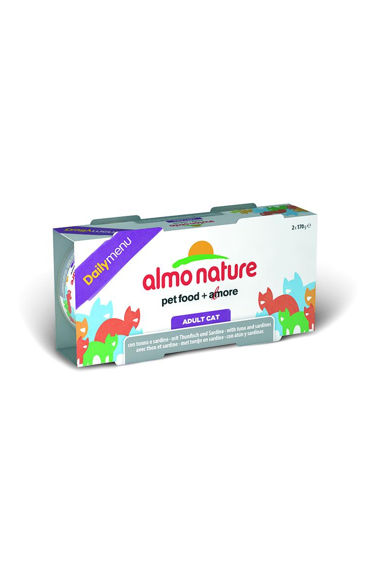 """Консервы для кошек Almo Nature """"Daily menu"""", с тунцом и сардинами, 170 г х 2 шт"""