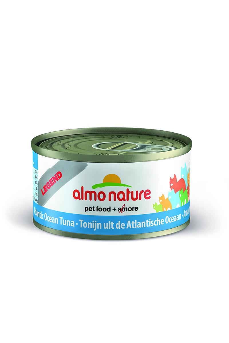 Консервы для кошек Almo Nature Classic, с атлантическим тунцом, 70 г консервы для щенков almo nature classic с курицей 280 г