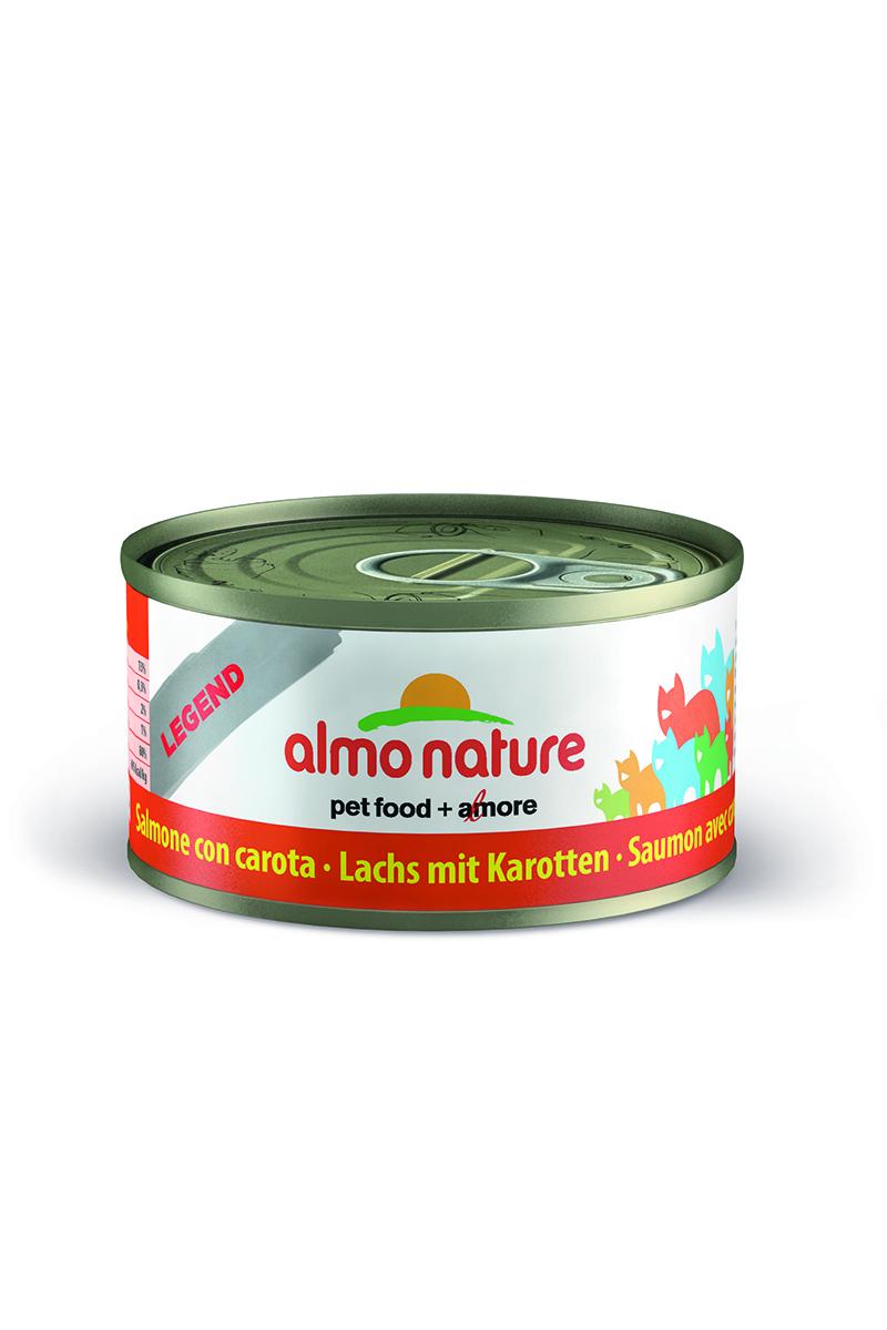 Консервы для кошек Almo Nature Classic, с лососем и морковью, 70 г консервы для кошек almo nature classic тунец в желе 70 г