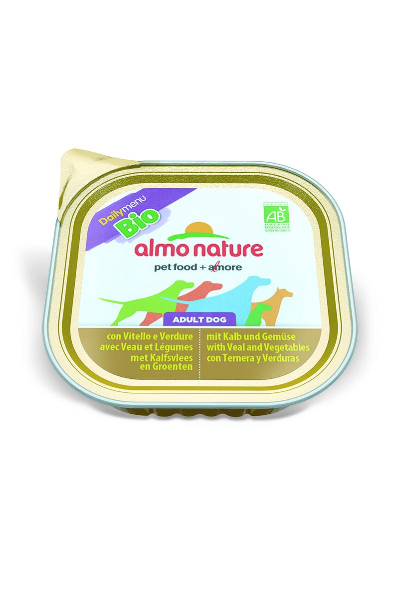 Паштет для собак Almo Nature Daily Menu. Bio, с телятиной и овощами, 300 г корм для птиц vitakraft menu vital для волнистых попугаев основной 1кг