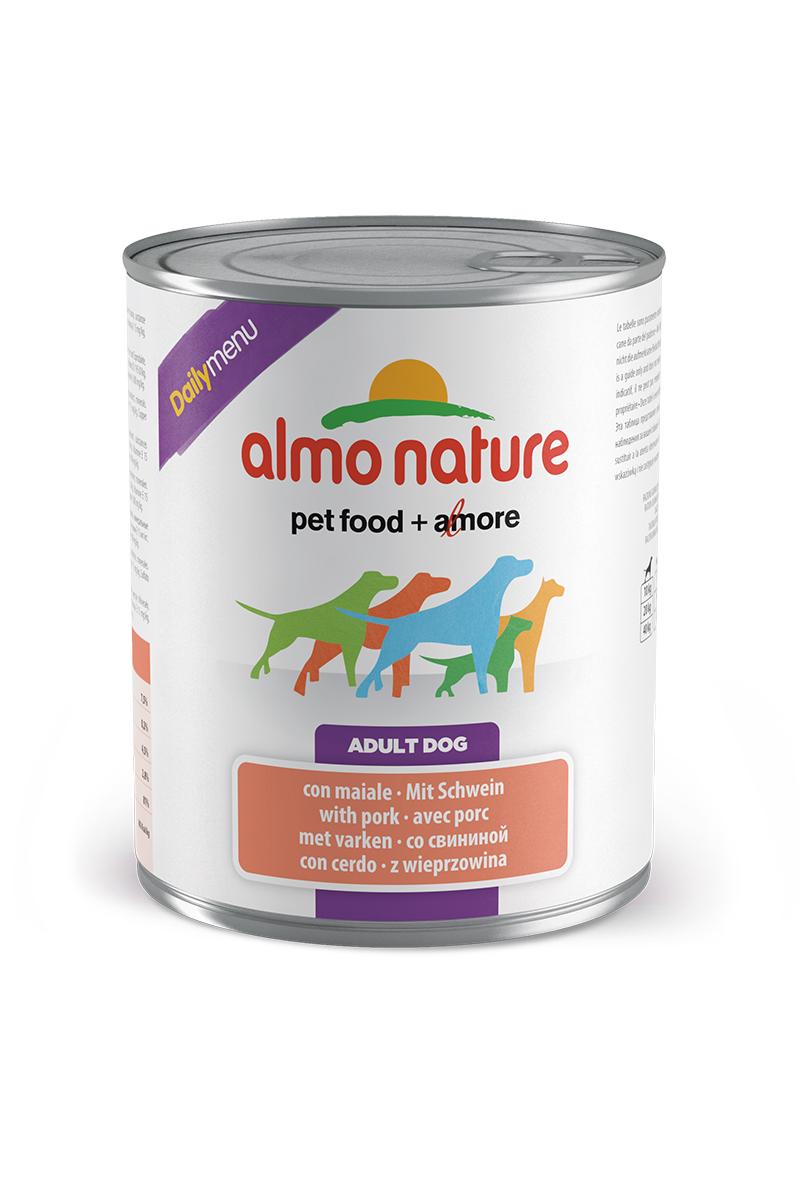 Консервы для собак Almo Nature Daily Menu, со свининой, 800 г корм для птиц vitakraft menu vital для волнистых попугаев основной 1кг