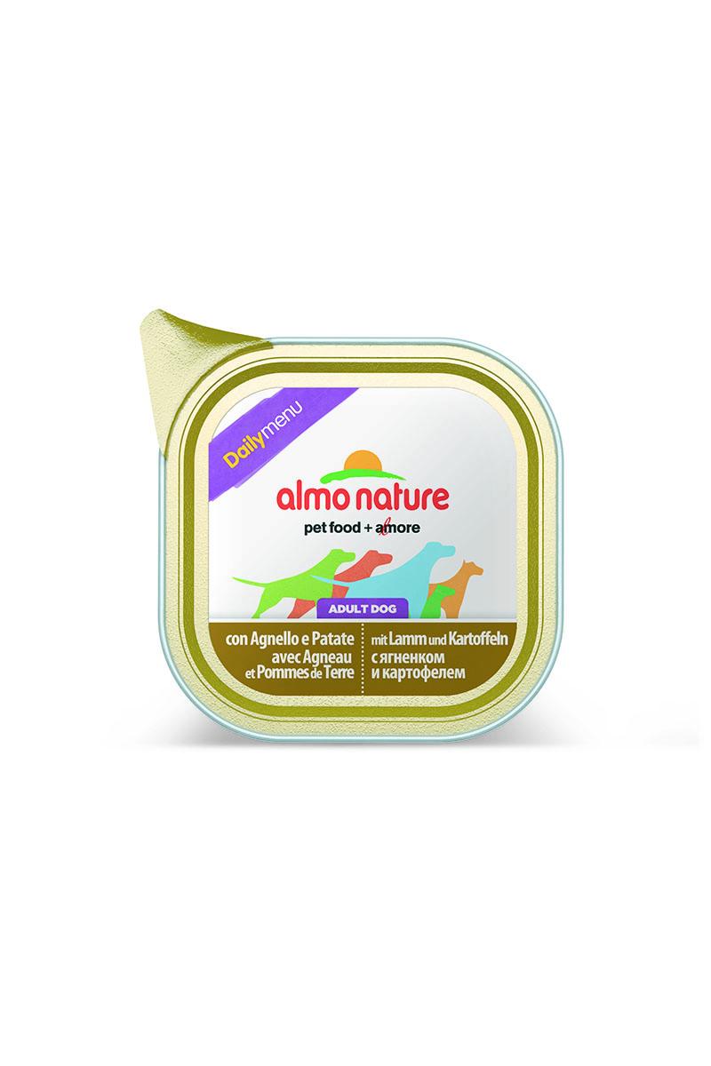 Консервы для собак Almo Nature Daily Menu, с ягненком и картофелем, 100 г23243Консервы Almo Nature Daily Menu - сбалансированный влажный корм для собак, изготовленный из ингредиентов высшего качества, являющихся натуральными источниками витаминов и питательных веществ.Товар сертифицирован.
