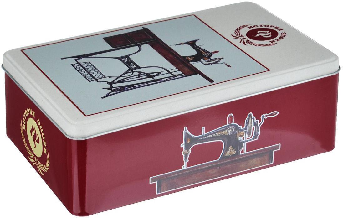 Декоративная шкатулка Советская швейная машинка, 17 см х 11 см х 5 см37335Мы продаем самые разные шкатулки, но их объединяет одно – они очень красивые и оригинальные. Материал: мдф.