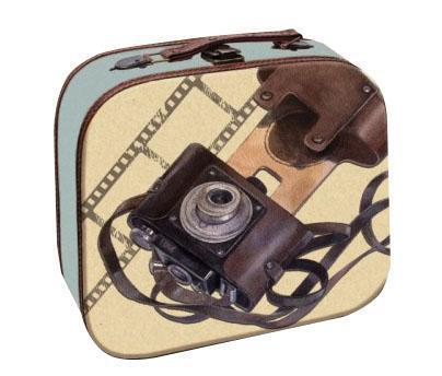 Декоративная шкатулка Фотоаппарат, 28,5 см х 25 см х 10,5 см37349Мы продаем самые разные шкатулки, но их объединяет одно – они очень красивые и оригинальные. Материал: мдф.