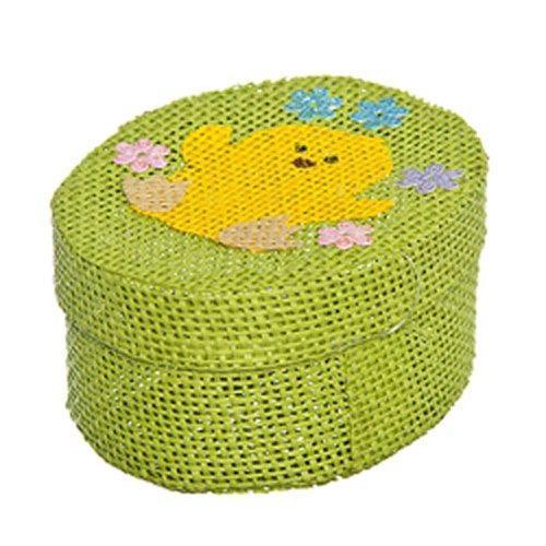 Шкатулка декоративная Home Queen Цыпленок, цвет: зеленый, 10,5 х 8 х 5 см корзина декоративная home queen ромашки цвет желтый 16 х 16 х 8 см