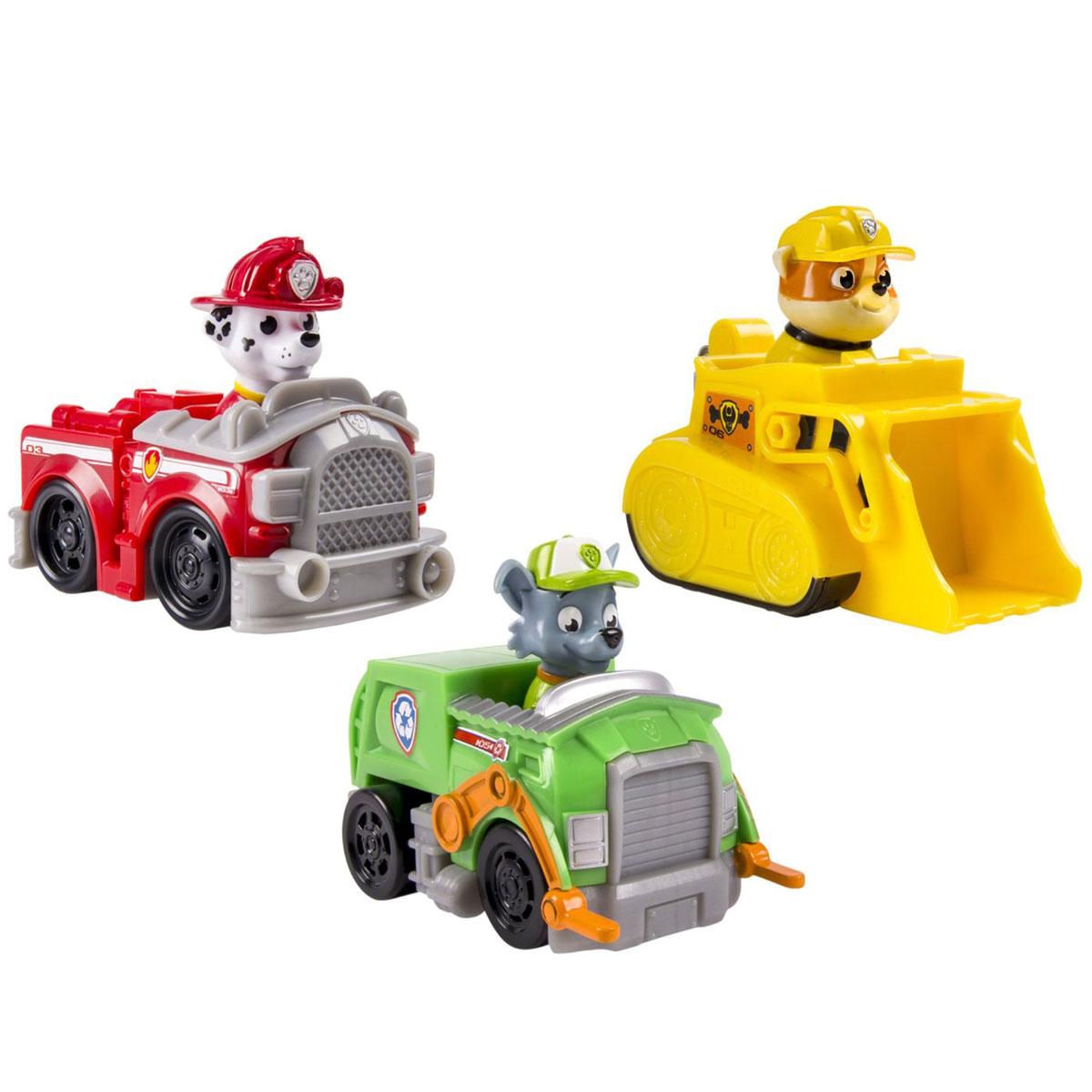 Paw Patrol Набор машинок спасателей spin master большой автомобиль спасателей погрузчик рокки щенячий патруль