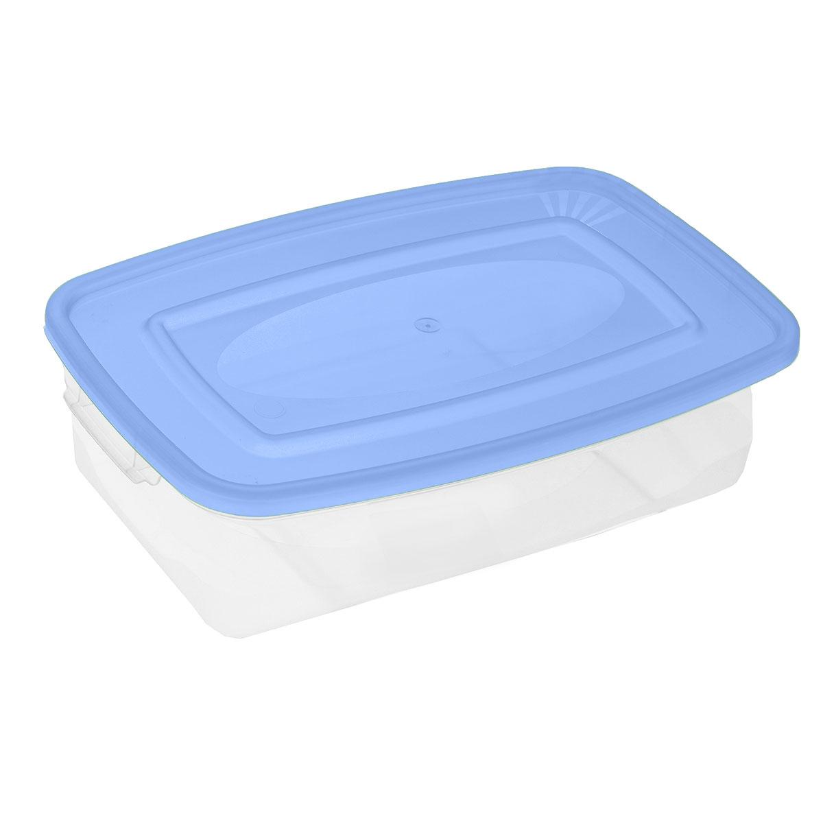 Контейнер для СВЧ Полимербыт Каскад, цвет: голубой, прозрачный, 700 млС540_голубой, прозрачныйПрямоугольный контейнер для СВЧ Полимербыт Каскад изготовлен из высококачественного прочного пластика, устойчивого к высоким температурам (до +120°С). Стенки контейнера прозрачные, что позволяет видеть содержимое. Цветная полупрозрачная крышка плотно закрывается. Контейнер идеально подходит для хранения пищи, его удобно брать с собой на работу, учебу, пикник или просто использовать для хранения пищи в холодильнике.Можно использовать в микроволновой печи и для заморозки в морозильной камере. Можно мыть в посудомоечной машине.