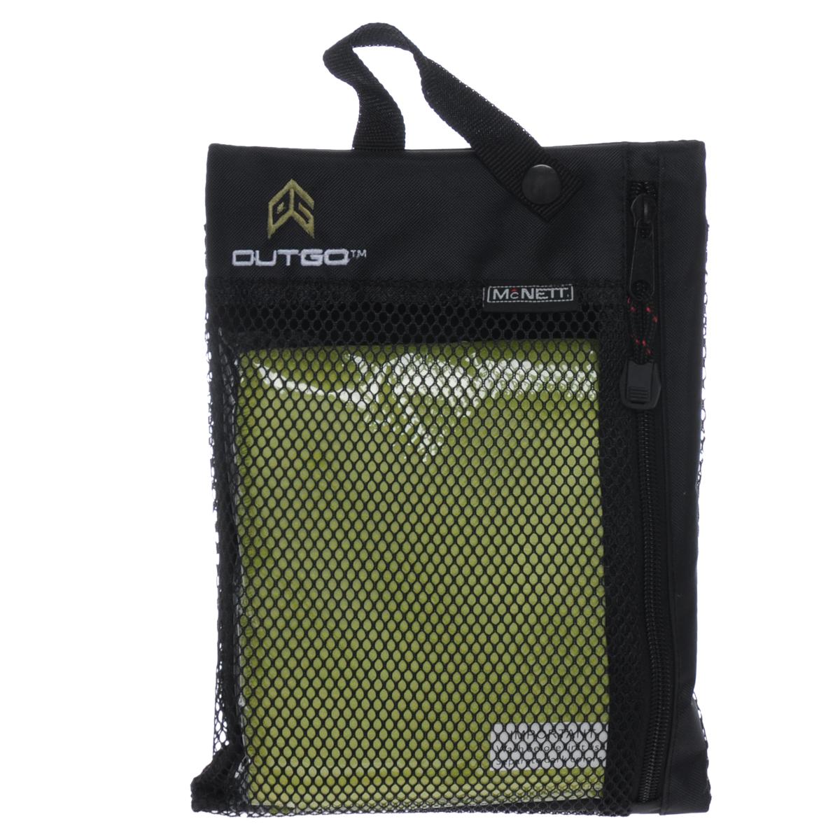 Полотенце McNett Outgo, цвет: зеленый, 77 см х 128 смMN 68155Микроволоконное полотенце McNett Outgo - это специально разработанная высокоплотная вязаная чрезвычайно компактная ткань с абсолютно уникальными впитывающими и чистящими свойствами. Сверхтонкие (0.2 денье) микроволоконные сплетения быстро сохнут - 90% воды удаляется при ручном отжиме. Приятное на ощупь, обладающее уникальными свойствами микроволокон, полотенце McNett Outgo идеально подойдет любителям различных поездок, походов и водных видов спорта. В комплекте удобный чехол, выполненный из сетки с водоотталкивающей подкладкой.