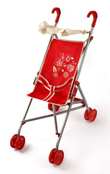 Mary Poppins Коляска для кукол Божья коровка с тентом цвет красный купить куклу младенца