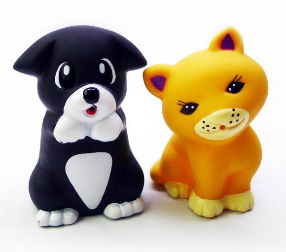 Жирафики Набор игрушек для ванной Котенок Мяу и Щенок 2 шт жирафики набор игрушек для ванной лошадка и свинка