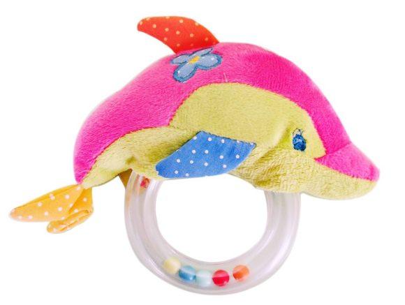 Жирафики Развивающая игрушка Дельфин-погремушка жирафики развивающая игрушка погремушка забавные зверята