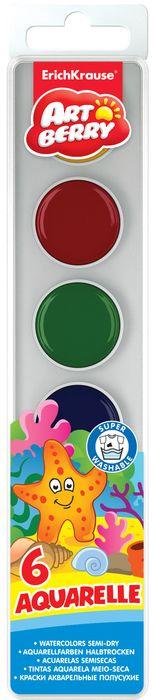Акварель медовая Erich Krause Artberry, 6 цветов35112Акварель Erich Krause ArtBerry предназначены для рисования дома и в детских садах. Яркие и интенсивные цвета отлично подойдут как для создания фоновых рисунков, так и прорисовки крупных и мелких деталей. Акварельные краски легко смываются водой и выполнены в крепком пластиковом корпусе. Количество цветов: 6.