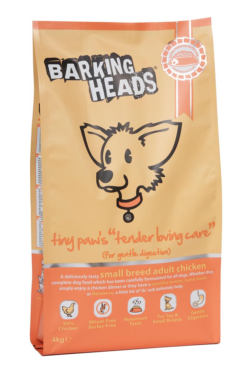 Корм сухой Barking Heads Нежная забота для мелколапого, для собак мелких пород, с чувствительным пищеварением, с курицей и рисом, 4 кг18094Сухой корм Barking Heads - вкуснейший полнорационный корм для собак, специально разработанный, чтобы держать наших любимцев в наилучшей форме! Натуральные ингредиенты непременно понравятся вашему питомцу.Состав: свежеприготовленная курица 25%, сушеное куриное мясо 20%, коричневый рис, сладкий картофель, овес, белый рис, куриный жир, 2,5%, куриный бульон 2,5%, свежеприготовленная форель 2%, люцерна, подсолнечное масло, морские водоросли, морковь.Гарантированный анализ (%): белок 22%, содержание жира 14%, зола 7%, клетчатка 3%, влага 8%, Омега-6 3%, Омега-3 1%.Витамины: витамин А 208000 МЕ, витамин D3 1850 МЕ, витамин Е 580 МЕ.Микроэлементы: моногидрат сульфата железа 770 мг, моногидрат сульфата цинка 645 мг, моногидрат сульфата марганца 125 мг, пентагидрат сульфата меди 45 мг, безводный йодат кальция 5,70 мг, селенит натрия 0,65 мг.Товар сертифицирован.