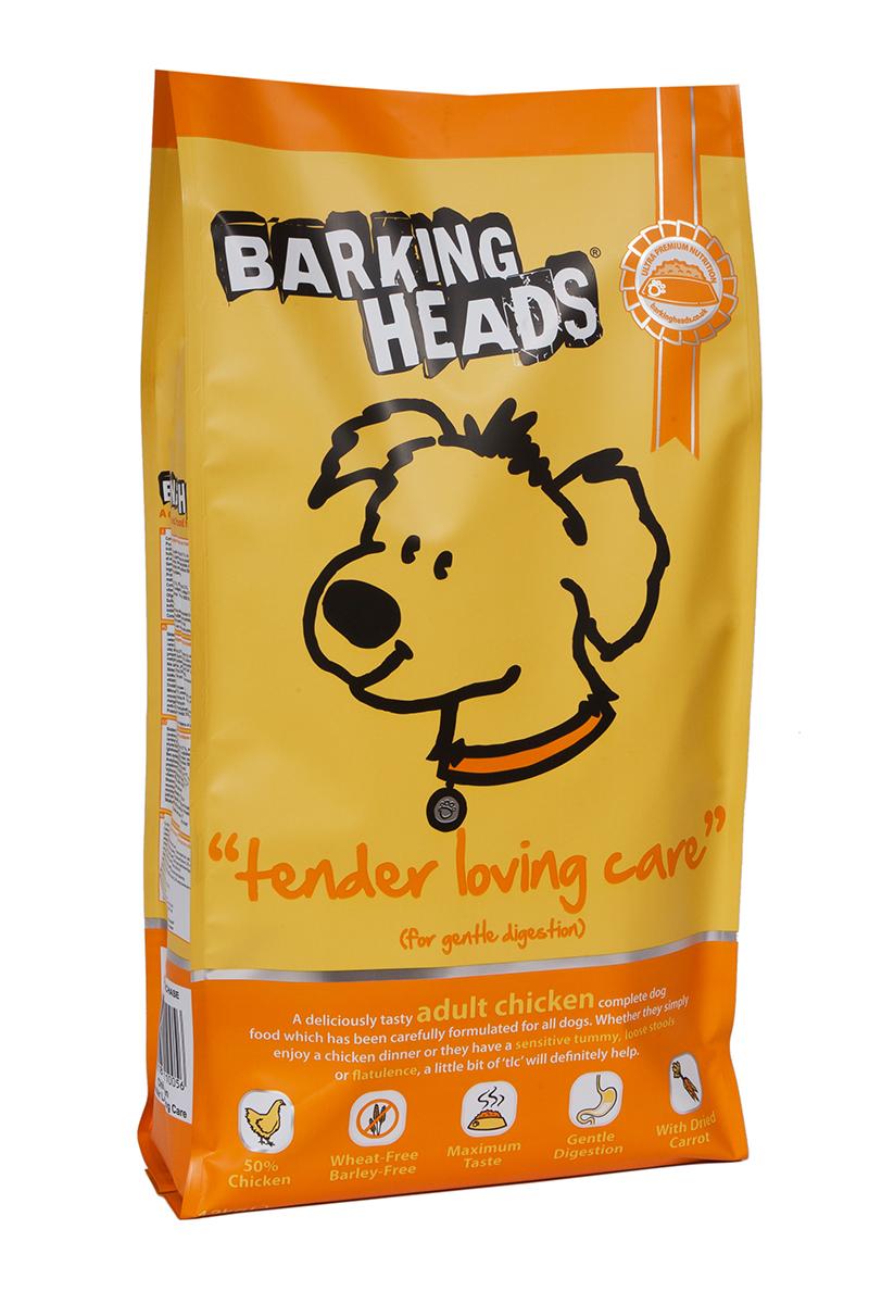 Корм сухой Barking Heads Нежная забота, для собак с чувствительным пищеварением, с курицей и рисом, 12 кг18108Сухой корм Barking Heads - вкуснейший полнорационный корм для собак, специально разработанный, чтобы держать наших любимцев в наилучшей форме! Натуральные ингредиенты непременно понравятся вашему питомцу.Состав: свежеприготовленная курица 27%, сушеное куриное мясо 21%, коричневый рис, овес, белый рис, свежеприготовленная форель 5%, люцерна, куриный жир, 3,5%, куриный бульон 2,5%, подсолнечное масло, морские водоросли, сушеная морковь, сушеный томат, забота о бедрах и суставах (глюкозамин 350 мг/кг, МСМ 350 мг/кг, хондроитин 240 мг/кг).Гарантированный анализ (%): белок 25%, содержание жира 17,5%, клетчатка 2,5%, зола 7,5%, влага 8%, Омега-6 3,6%, Омега-3 1%.Витамины: витамин А 16650 МЕ, витамин D3 1480 МЕ, витамин Е 460 МЕ.Комплекс микроэлементов: моногидрат сульфата железа 617 мг, моногидрат сульфата цинка 514 мг, моногидрат сульфата марганца 101 мг, пентагидрат сульфата меди 37 мг, безводный йодат кальция 4,55 мг, селенит натрия 0,51 мг.Товар сертифицирован.