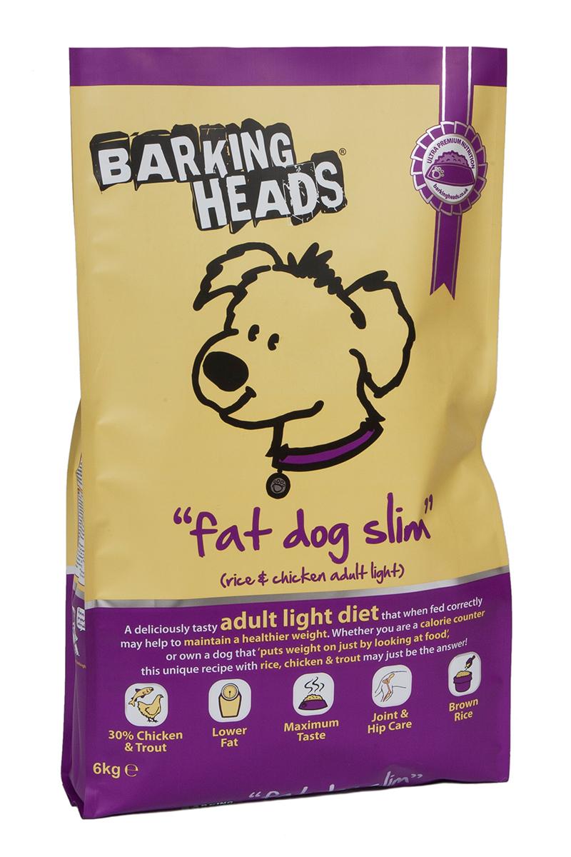 Корм сухой Barking Heads Худеющий толстячок, для собак с избыточным весом, с курицей и рисом, 6 кг18129Сухой корм Barking Heads - вкуснейший полнорационный корм для собак, специально разработанный, чтобы держать наших любимцев в наилучшей форме! Натуральные ингредиенты непременно понравятся вашему питомцу.Состав: коричневый рис, сушеное куриное мясо 18%, картофель, овес, ячмень, люцерна, свежеприготовленная форель 5%, горох, свежеприготовленная курица 4,5%, подсолнечное масло, куриный бульон 2,5%, морские водоросли, сушеный томат, сушеная морковь, забота о бедрах и суставах (глюкозамин 350 мг/кг, хондроитин 240 мг/кг).Гарантированный анализ (%): белок 20%, содержание жира 9%, клетчатка 5%, зола 8%, влага 8%, Омега-6 2,6%, Омега-3 0,7%.Витамины: витамин А 16650 МЕ, витамин D3 1480 МЕ, витамин Е 460 МЕ.Комплекс микроэлементов: моногидрат сульфата железа 617 мг, моногидрат сульфата цинка 514 мг, моногидрат сульфата марганца 101 мг, пентагидрат сульфата меди 37 мг, безводный йодат кальция 4,55 мг, селенит натрия 0,51 мг.Товар сертифицирован.
