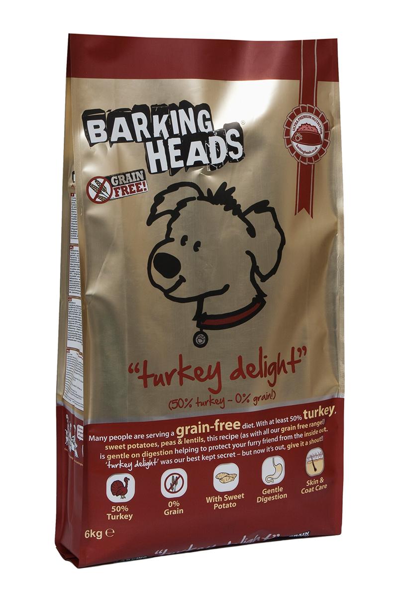 Корм сухой Barking Heads Бесподобная индейка, для собак, беззерновой, с индейкой и бататом, 6 кг18148Сухой корм Barking Heads является беззерновым полноценным питанием для собак. Изделие имеет высокое содержание витаминов и питательных веществ.Сухой корм содержит натуральные компоненты, которые необходимы для полноценного и здорового питания домашних животных. Рецептура корма построена по принципу питания плотоядных. Состав: свежеприготовленная индейка 34%, сладкий картофель, сушеная индейка 14%, свежеприготовленная форель 5%, чечевица, горох, жир индейки 3%, бульон из индейки 1,5%, люцерна, морские водоросли, забота о бедрах и суставах (глюкозамин 350 мг/кг, МСМ 350 мг/кг, хондроитин 240 мг/кг).Гарантированный анализ (%): белок 24%, содержание жира 15%, зола 8%, клетчатка 3,5%, влага 8%, омега-6 2,3%, омега-3 0,7%.Витамины: витамин А 16650 МЕ, витамин D3 1480 МЕ, витамин Е 460 МЕ.Микроэлементы: моногидрат сульфата железа 617 мг, моногидрат сульфата цинка 514 мг, моногидрат сульфата марганца101 мг, пентагидрат сульфата меди 37 мг, безводный йодат кальция 4,55 мг, селенит натрия 0,51 мг.Товар сертифицирован.