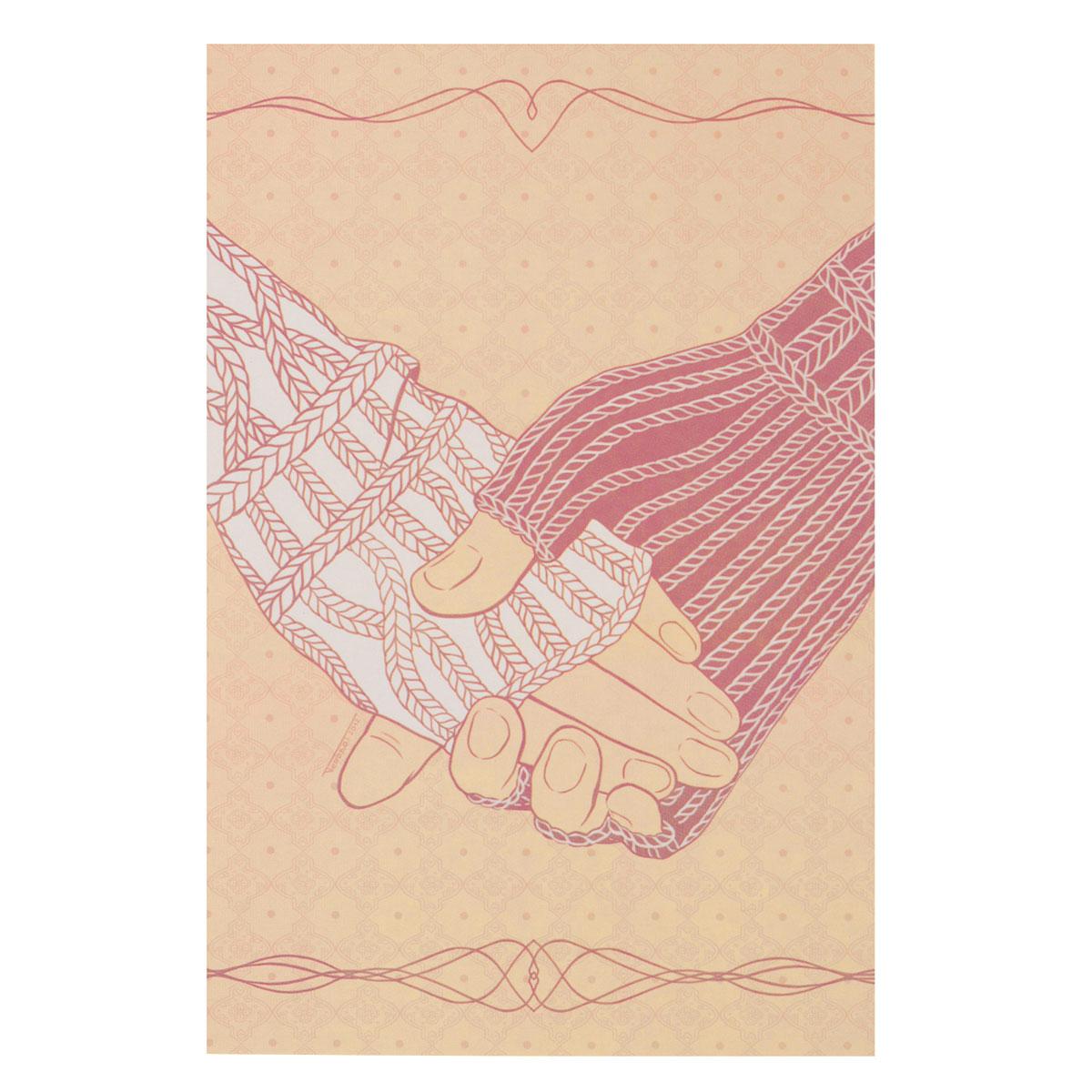 Открытка Свяжемся. Автор Татьяна ПероваPT10-023Оригинальная дизайнерская открытка Свяжемся выполнена из плотного матового картона. На лицевой стороне расположена репродукция картины художницы Татьяны Перовой с изображением рук в вязаных варежках.Такая открытка станет великолепным дополнением к подарку или оригинальным почтовым посланием, которое, несомненно, удивит получателя своим дизайном и подарит приятные воспоминания.
