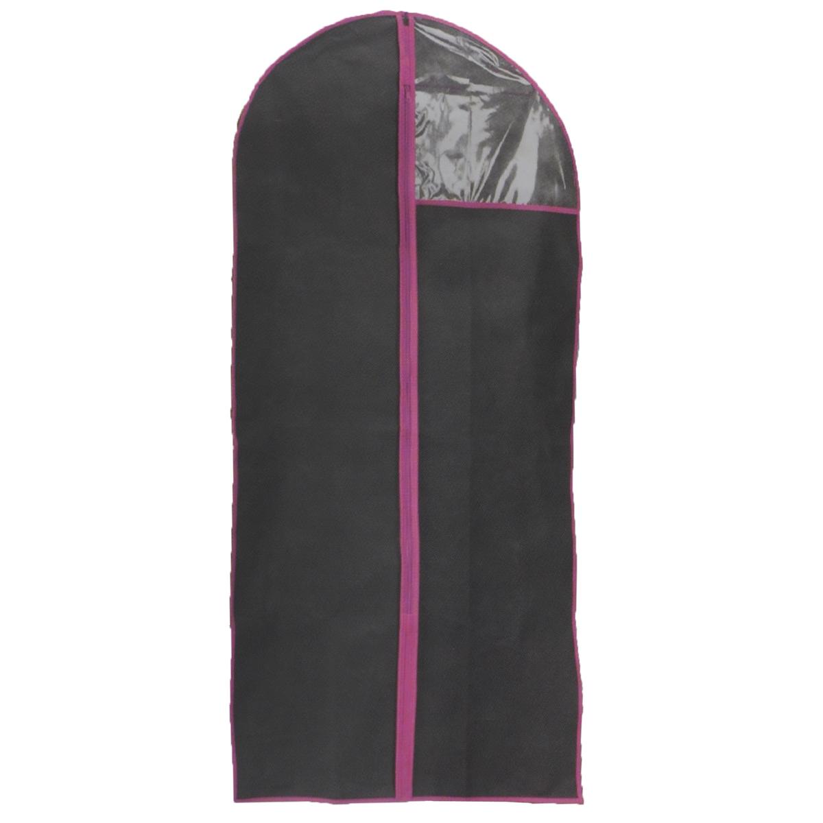 Чехол для одежды, цвет: черный, 60 см х 120 смFS-6502M-WЧехол для одежды изготовлен из высококачественного нетканого материала. Особое строение полотна создает естественную вентиляцию: материал дышит и позволяет воздуху свободно проникать внутрь чехла, не пропуская пыль. Благодаря форме чехла, одежда не мнется даже при длительном хранении. Застегивается на молнию. Окошко из пластика позволяет увидеть, какие вещи находятся внутри. Чехол для одежды будет очень полезен при транспортировке вещей на близкие и дальние расстояния, при длительном хранении сезонной одежды, а также при ежедневном хранении вещей из деликатных тканей. Чехол для одежды не только защитит ваши вещи от пыли и влаги, но и поможет доставить одежду на любое мероприятие в идеальном состоянии.