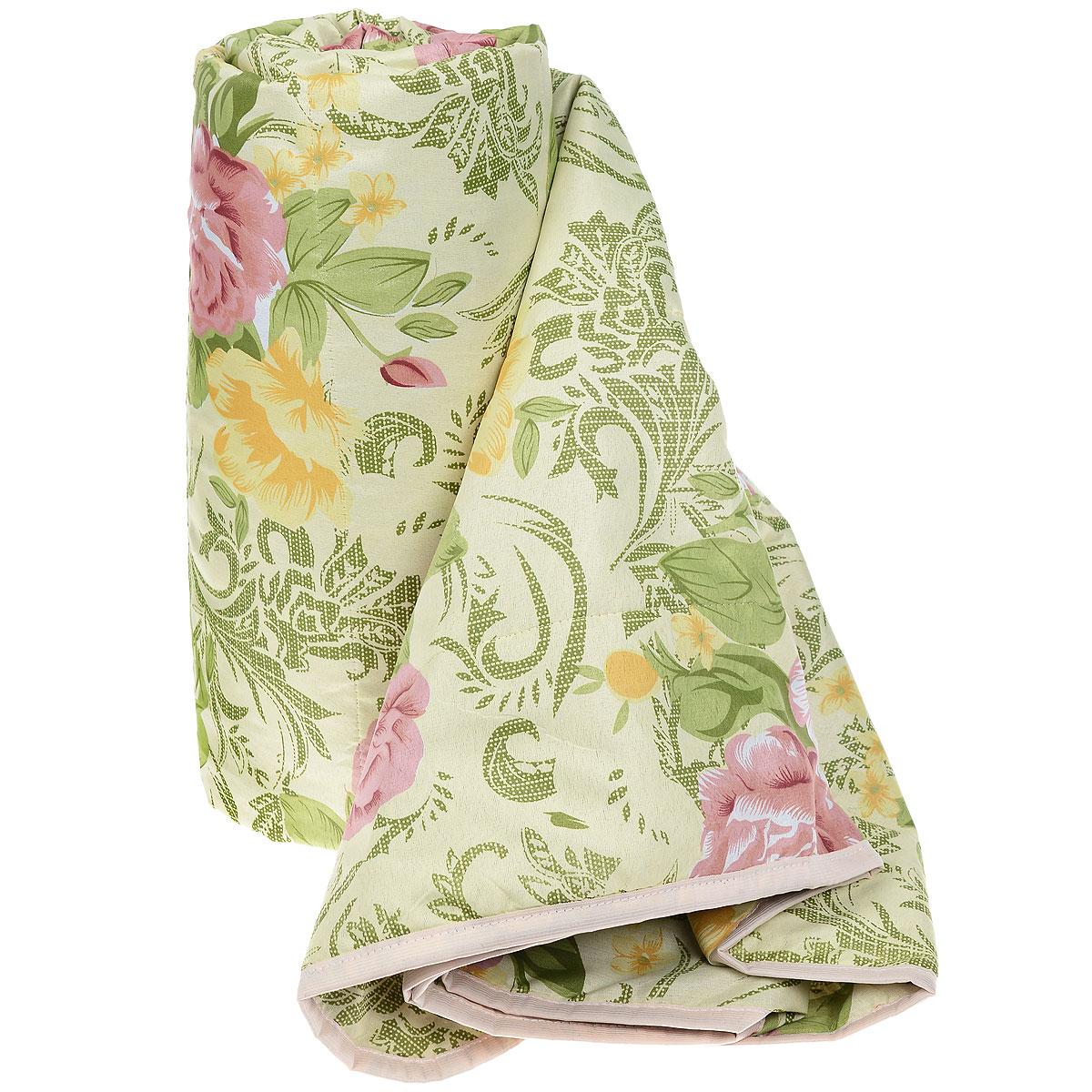 Одеяло летнее OL-Tex Miotex, наполнитель: холфитекс, цвет: зеленый, розовый, 200 см х 220 см. МХПЭ-22-1МХПЭ-22-1_зеленый, розовые розыЛегкое летнее одеяло OL-Tex Miotex создаст комфорт и уют во время сна. Чехол выполнен из полиэстера и оформлен красочным цветочным рисунком. Внутри - современный наполнитель из полиэфирного высокосиликонизированного волокна холфитекс, упругий и качественный. Прекрасно держит тепло. Одеяло с наполнителем холфитекс легкое и комфортное. Даже после многократных стирок не теряет свою форму, наполнитель не сбивается, так как одеяло простегано и окантовано.Рекомендации по уходу:- Ручная и машинная стирка при температуре 30°С.- Не гладить.- Не отбеливать. - Нельзя отжимать и сушить в стиральной машине.- Сушить вертикально. Размер одеяла: 200 см х 220 см. Материал чехла: 100% полиэстер. Материал наполнителя: холфитекс.