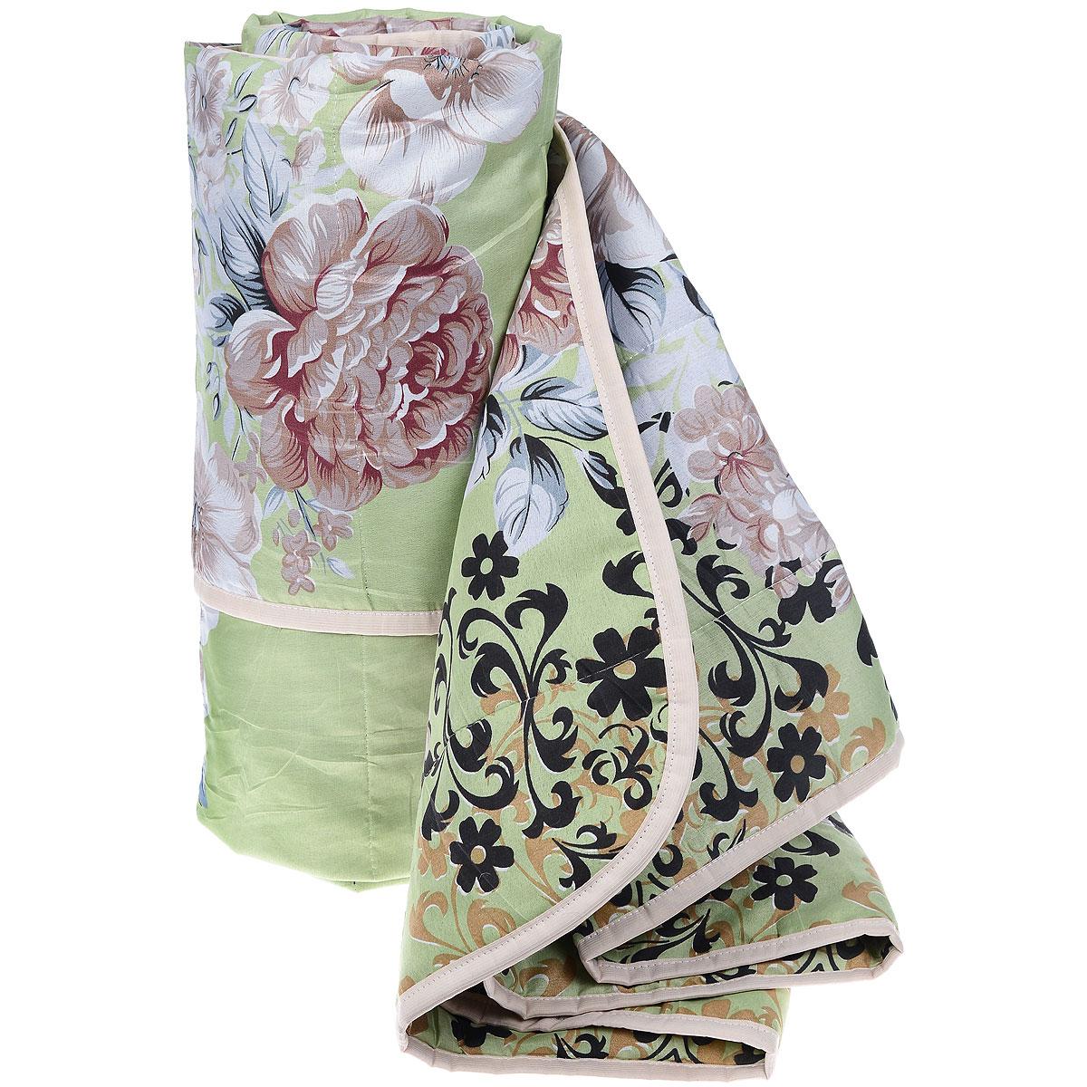 Одеяло летнее OL-Tex Miotex, наполнитель: холфитекс, цвет: зеленый, коричневый, 200 х 220 см МХПЭ-22-1МХПЭ-22-1_зеленый, коричневые цветыЛегкое летнее одеяло OL-Tex Miotex создаст комфорт и уют во время сна. Чехол выполнен из полиэстера и оформлен красочным цветочным рисунком. Внутри - современный наполнитель из полиэфирного высокосиликонизированного волокна холфитекс, упругий и качественный. Прекрасно держит тепло. Одеяло с наполнителем холфитекс легкое и комфортное. Даже после многократных стирок не теряет свою форму, наполнитель не сбивается, так как одеяло простегано и окантовано.Рекомендации по уходу:- Ручная и машинная стирка при температуре 30°С.- Не гладить.- Не отбеливать. - Нельзя отжимать и сушить в стиральной машине.- Сушить вертикально. Размер одеяла: 200 см х 220 см. Материал чехла: 100% полиэстер. Материал наполнителя: холфитекс.