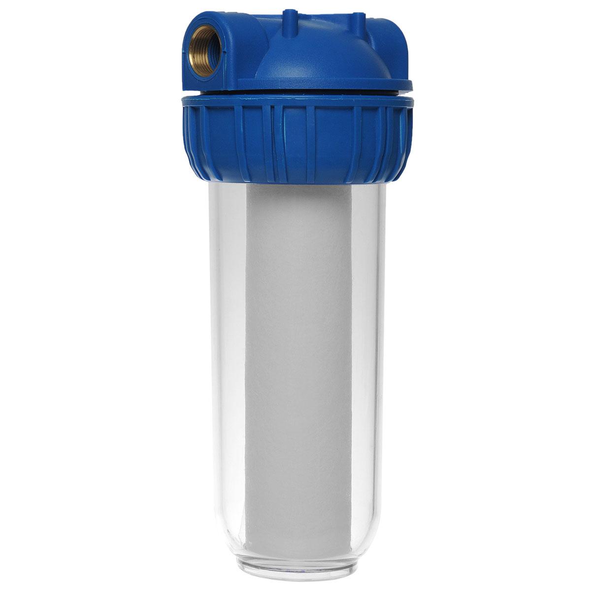 """Фильтр ЭкоДоктор предназначен для тонкой очистки воды от механических частиц, удаления песка, ржавчины и улучшения показателей мутности и цветности воды. Он имеет увеличенный ресурс и степень очистки. Собран из импортных высококачественных комплектующих. Колба имеет прозрачный корпус из прочного пластика и одинарное уплотнительное кольцо.   В комплект фильтра входят колба, картридж, кронштейн для крепления на стену, ключ для замены картриджей, инструкция по эксплуатации.    Характеристики: Типоразмер: 10 SL. Высота корпуса 31 см. Подключение: 3/4"""". Рабочее давление воды: до 8 Атм. Температура воды на входе: 1-40°С. Размер упаковки: 13 см х 15 см х 35 см. Артикул: 111010."""