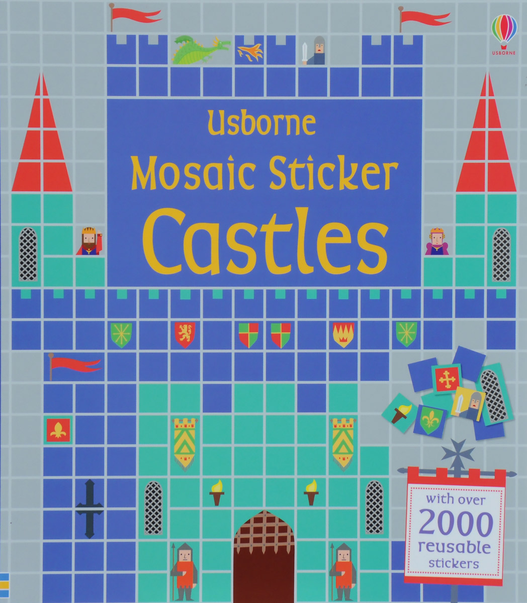 Mosaic Sticker Castles bugs sticker book 400 reusable stickers