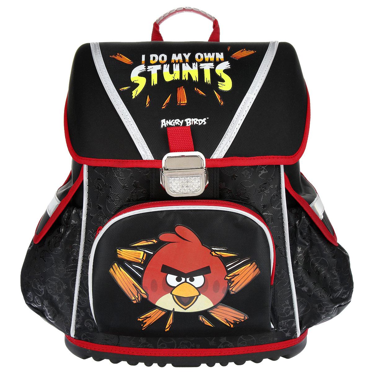 """Ранец Hatber """"Angry Birds"""", цвет: черный, красный"""