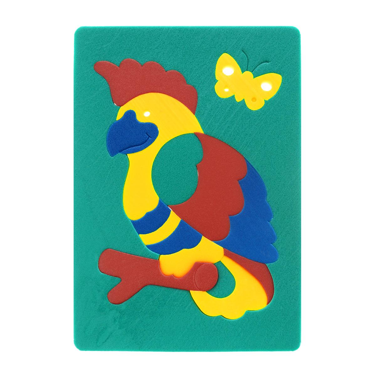Мягкая мозаика Флексика Попугай, цвет: зеленый игрушки для ванны флексика мозаика набор для ванны замок