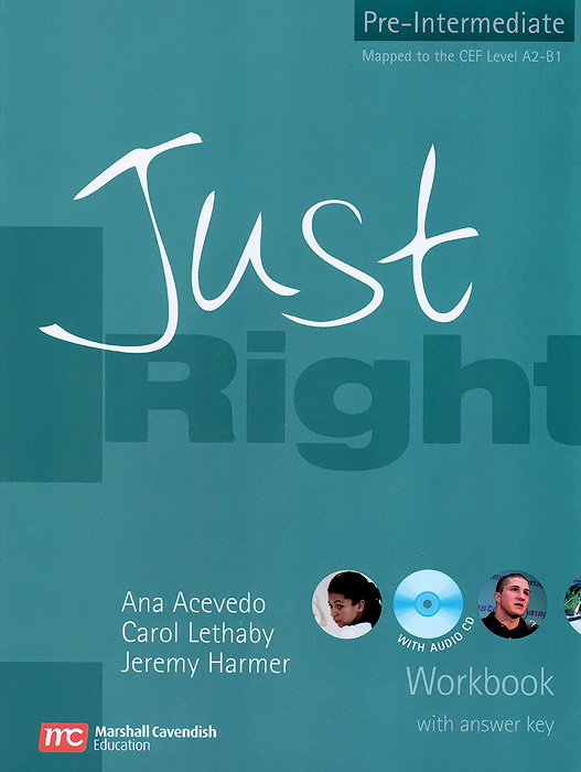 Just Right: Pre-Intermediate: Workbook (with Answer Key + CD) roberts rachael sayer mike insight pre intermediate workbook