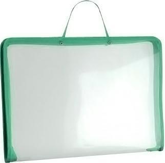 Папка (А3) на молнии с ручками, цвет: зеленый34829