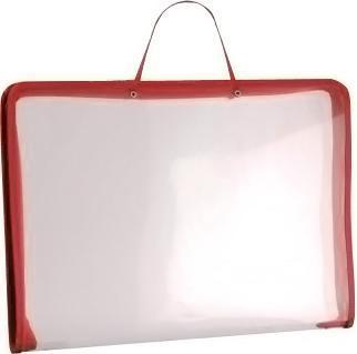 Папка (А3) на молнии с ручками, цвет: красный