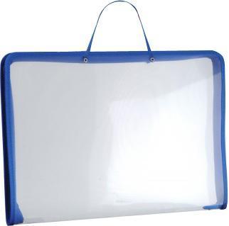 Папка (А3) на молнии с ручками, цвет: синий34829