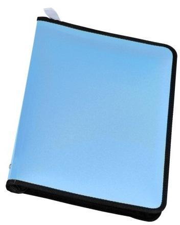 Папка А4 на молнии NEON, цвет: голубой31012