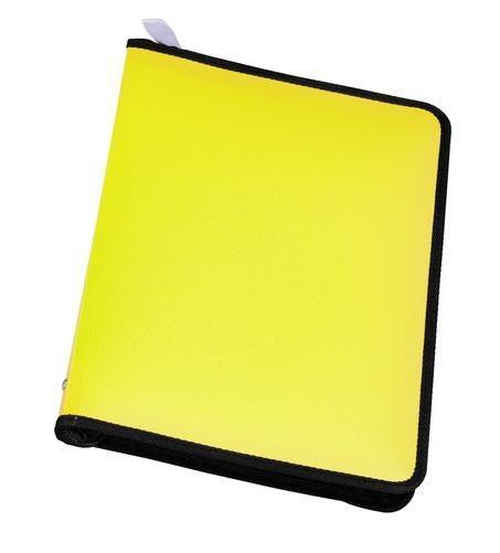 Папка А4 на молнии NEON, цвет: желтый31012