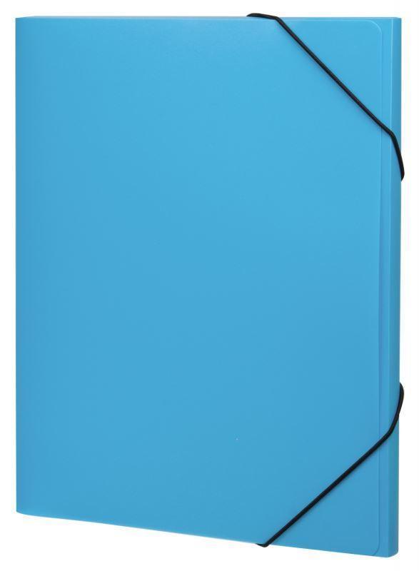 Erich Krause Папка Neon на резинках цвет голубой31018Практичная папка на резинках Erich Krause Neon пригодится в каждом офисе для хранения документов.Папка надежно закрывается при помощи угловых резинок.Благодаря использованию качественных материалов, безупречных технологий обработки и высокой функциональности, это стильное изделие выдержит даже самый напряженный рабочий день.