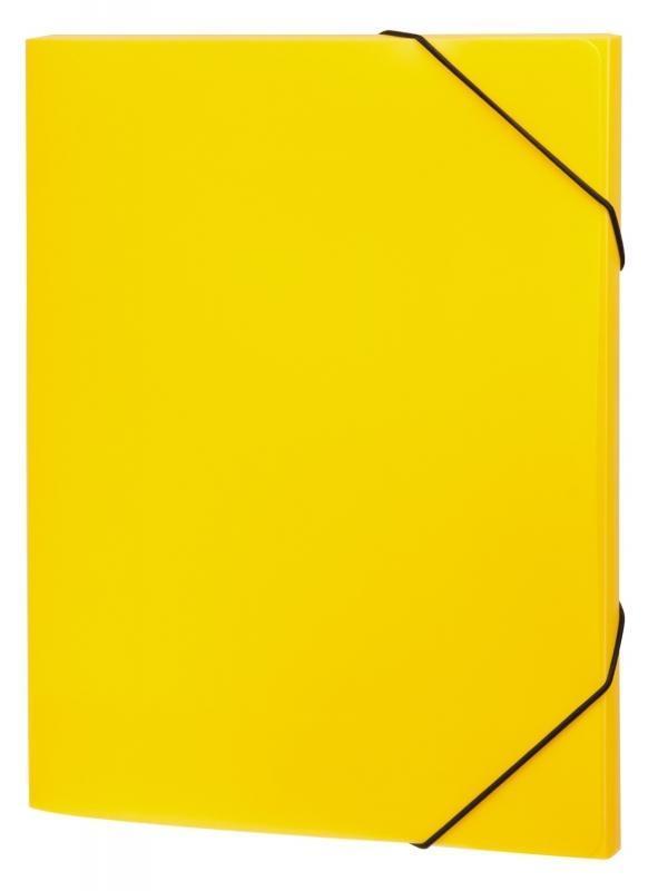 Папка А4 на резинках NEON, цвет: желтый31018