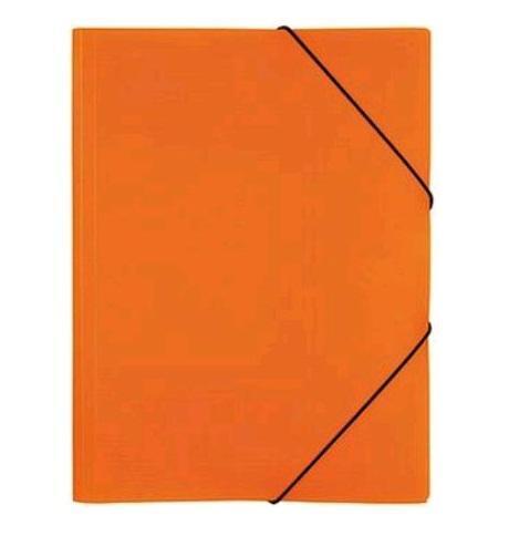 Папка А4 на резинках NEON, цвет: оранжевый31018