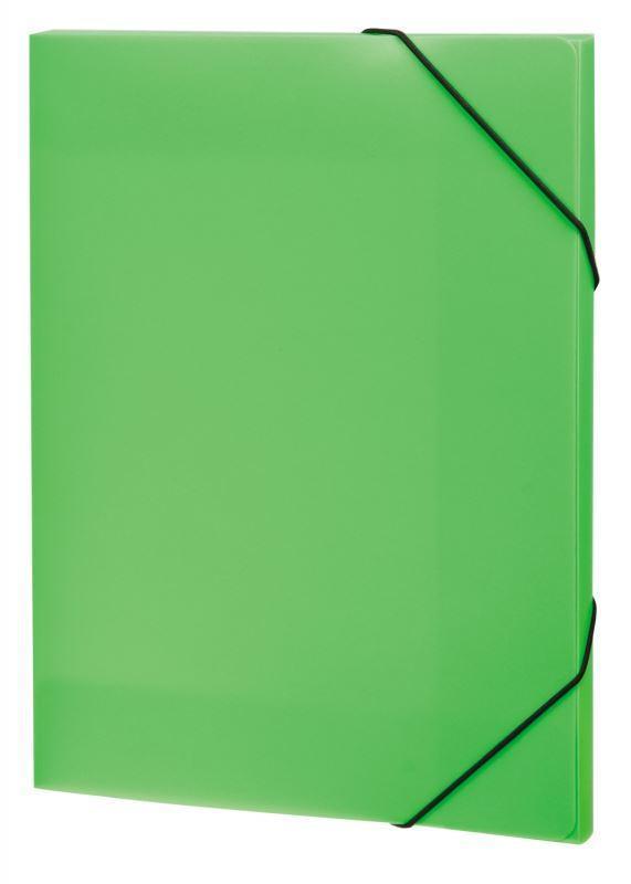 Папка А4 на резинках NEON, цвет: салатовый31018