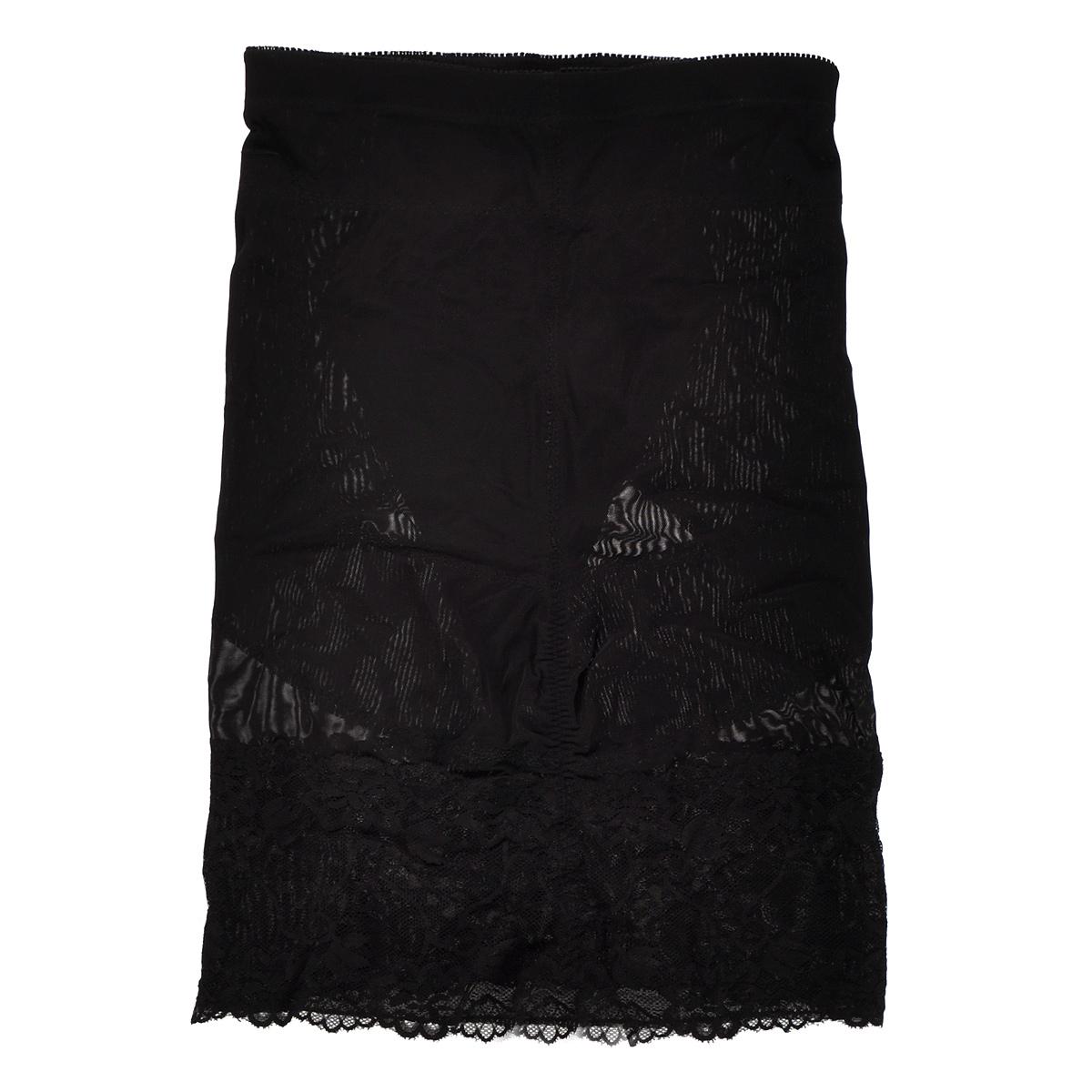 Юбка Magic BodyFashion Super-Control Skirt, супер-утягивающая, цвет: черный. 14CS. Размер L (48)14CSСупер-утягивающая юбка Magic BodyFashion Super-Control Skirt, декорированная ажурным кружевом, очень удобная и комфортная в носке. Эта модель делает бедра более стройными, а живот - более плоским. Формирующая фигуру юбка с высокой талией уменьшает живот, формирует красивые ягодицы и уменьшает ваши бедра, с эффектом похудания. Функциональный покрой заметно подтягивает и моделирует фигуру, скрывая ее недостатки. Кружевные вставки сделают вас современной и неотразимой.Крой юбки необычен, благодаря чему ее невозможно заметить под любой одеждой, она практически не ощущается на коже, позволяет чувствовать себя комфортно и легко. Изделие позволяет приобрести выразительные линии своего тела за считанные секунды (можно скрыть все лишнее).Белье Magic BodyFashion создано для тех, кто стремится к безупречности своего стиля. Именно благодаря ему огромное количество женщин чувствуют себя поистине соблазнительными, привлекательными и не на шутку уверенными в себе.