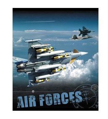 Тетрадь,48л Air Forces, УФ-лак35436Тетрадь с обложкой из картона, защищающей бумагу от деформации. Отличный выбор для Вашего ребенка!