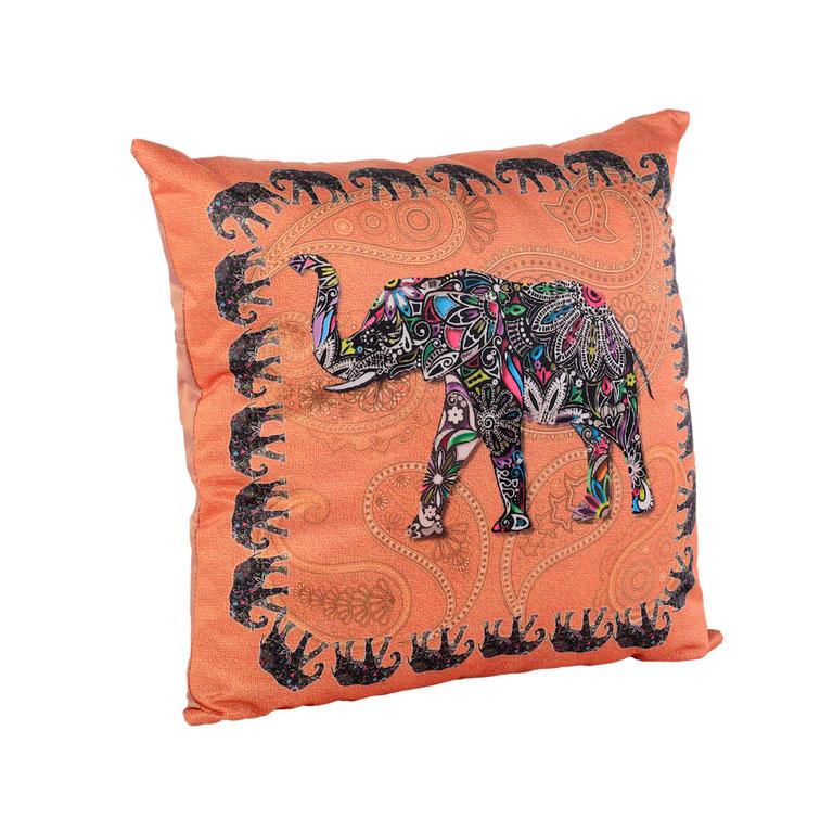 "Подушка декоративная Gift'n'Home ""Слон"", цвет: оранжевый, 35 см х 35 см"