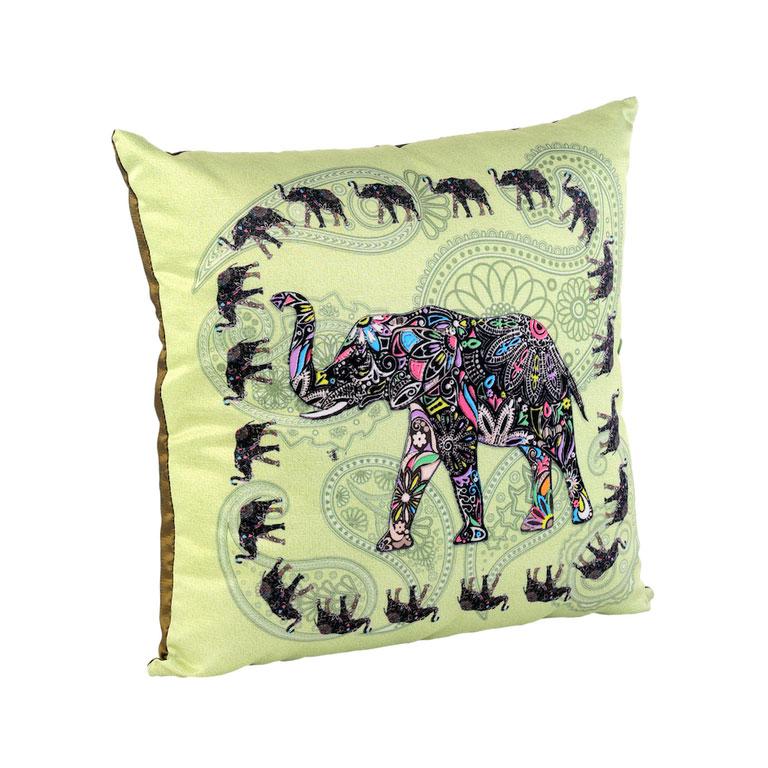 Подушка декоративная Gift'n'Home Слон, цвет: фисташковый, 35 см х 35 см подушка декоративная диаметр 35 см