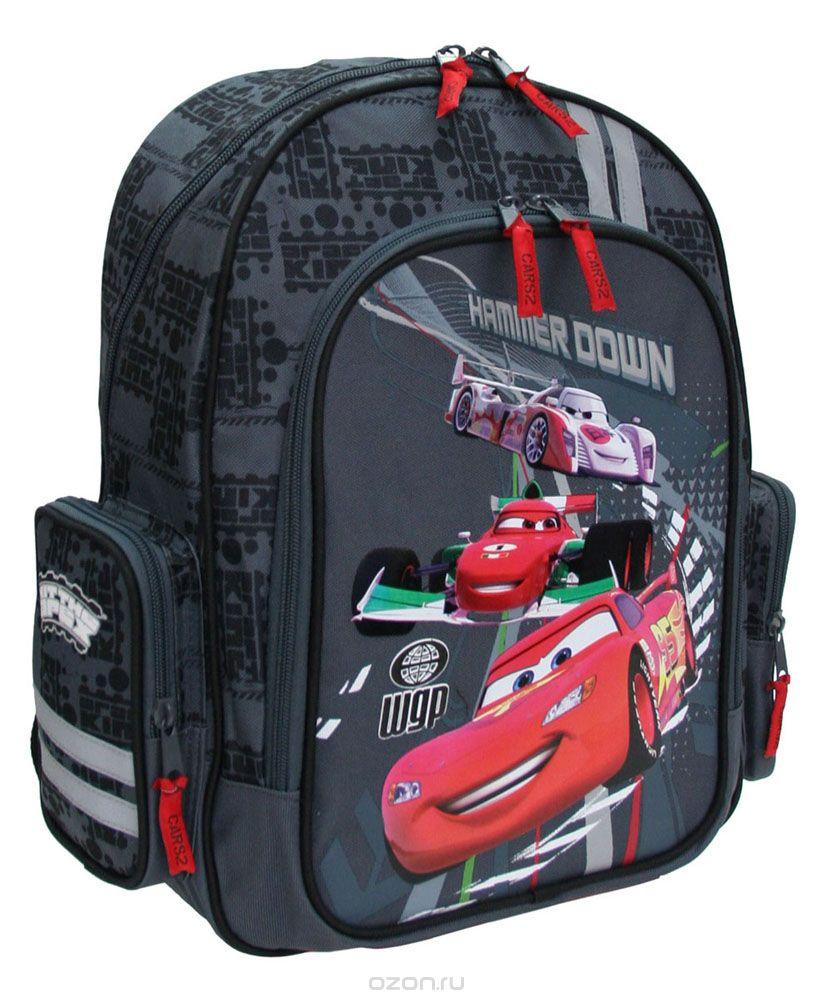 Рюкзак школьный Kinderline Cars, цвет: черный, красный сумка kinderline international mhbz us1 51box5 v3
