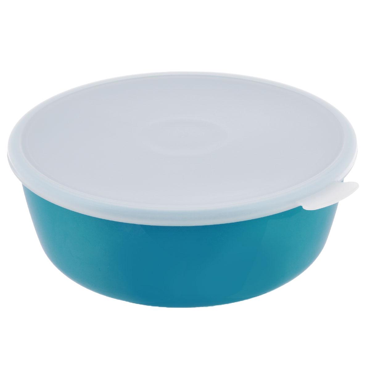 Миска Idea Прованс, с крышкой, цвет: бирюзовый, 2,5 лМ 1382Миска круглой формы Idea Прованс изготовлена из высококачественного пищевого пластика. Изделие очень функциональное, оно пригодится на кухне для самых разнообразных нужд: в качестве салатника, миски, тарелки. Герметичная крышка обеспечивает продуктам долгий срок хранения.Диаметр миски: 22,5 см.Высота миски: 8,5 см.