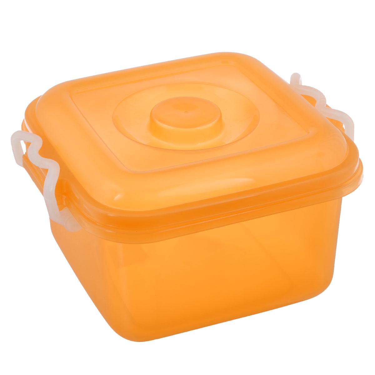 Контейнер для хранения Idea Океаник, цвет: оранжевый, 6 лМ 2855Контейнер Idea Океаник выполнен из пищевого пластика, предназначен для хранения различных вещей.Контейнер снабжен эргономичной плотно закрывающейся крышкой со специальными боковыми фиксаторами. Объем контейнера: 6 л.