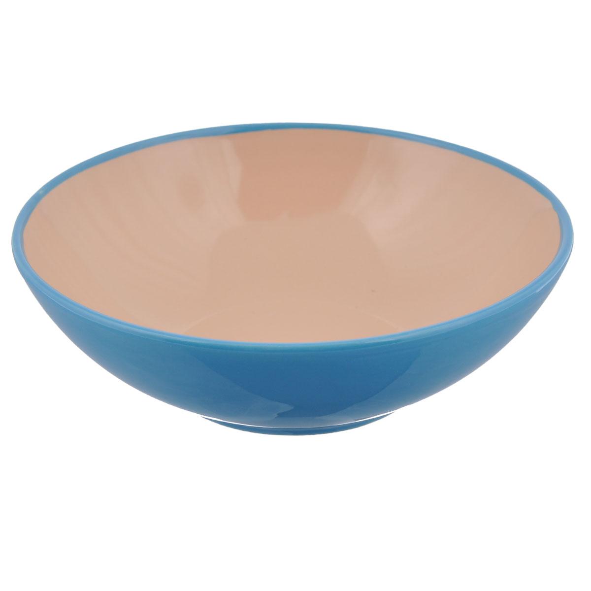Салатник Shenzhen Xin Tianli, цвет: бирюзовый, 580 млTLSDW-9Салатник Shenzhen Xin Tianli изготовлен из керамики, покрытой слоем сверкающей глазури. Салатник прекрасно подходит для сервировки салатов, фруктов, ягод и других продуктов. Яркий дизайн стильно украсит стол. Идеальный вариант для ежедневного использования.Объем: 580 мл.Диаметр салатника (по верхнему краю): 18 см.Высота стенки салатника: 6 см.