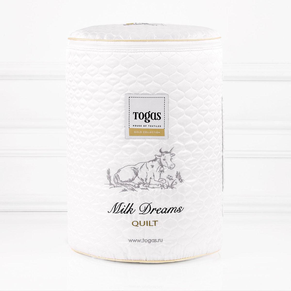 Одеяло Togas Милк дримс, наполнитель: молочное волокно, 140 х 200 см20.04.16.0095Чехол одеяла Togas Милк дримс выполнен из жаккарда (100% модал). Наполнитель одеяла изготовлен из молочного волокна. Модал - материал нового поколения, появился сравнительно недавно. Несмотря на синтетическое происхождение, он считается экологически чистым, так как изготовлен из 100% древесной целлюлозы. Целлюлоза для модала используется высококачественная, чаще всего из эвкалиптового дерева, бука, сосны.Молочное волокно имеет гипоаллергенные и антибактериальные свойства. Наполнитель из молочного волокна отлично поглощает лишнюю влагу, не препятствует естественному дыханию кожи во время сна и при этом сохраняет все свои свойства после многократных стирок. Такое одеяло абсолютно натуральное и безопасное. Оно дарит всю пользу молока вашей коже, насыщая ее во время сна аминокислотами, микроэлементами и оказывая на нее естественно увлажняющее и стимулирующее кровообращение действие.