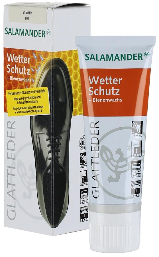 """Крем для обуви Salamander """"Wetter Schutz"""", цвет: скорлупа (001), 75 мл"""