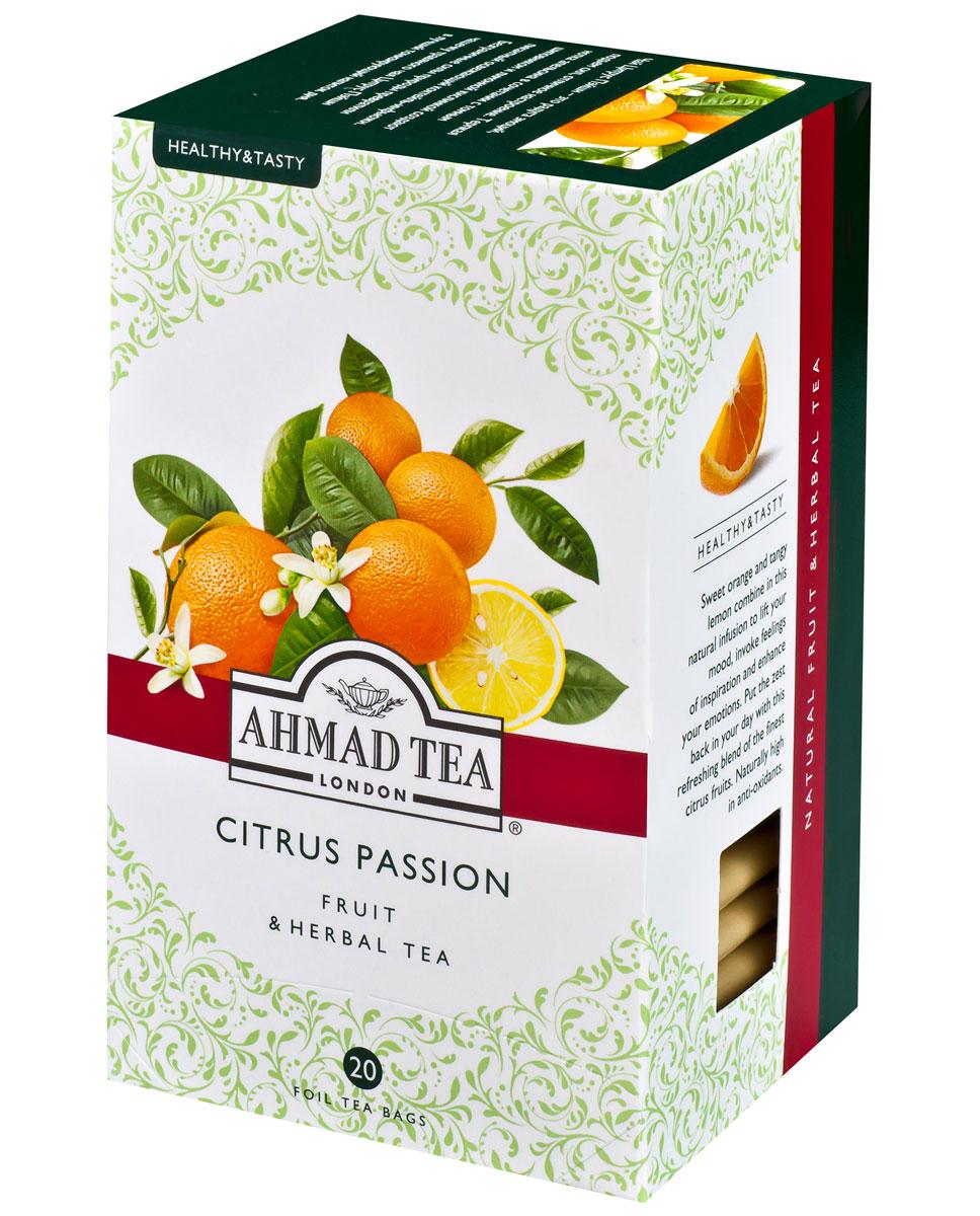 Ahmad Tea Citrus Passion травяной чай в фольгированных пакетиках, 20 шт чай ahmad tea эрл грей fine tea collection чёрный в жестяной банке 100г