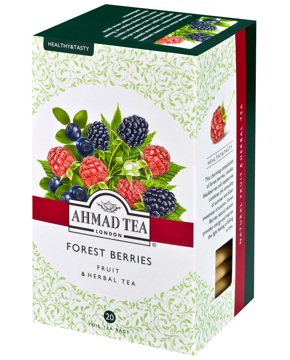 Фото - Ahmad Tea Forest Berries травяной чай в фольгированных пакетиках, 20 шт tea forest